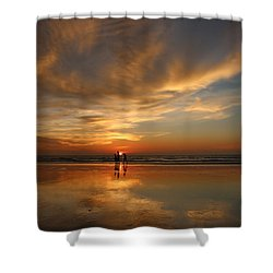 Family Reflections At Sunset - 2 Shower Curtain