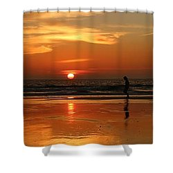 Family Reflections At Sunset - 4 Shower Curtain
