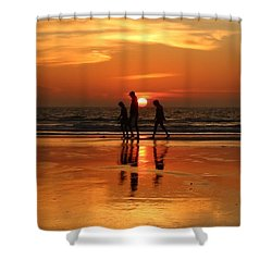 Family Reflections At Sunset - 1 Shower Curtain