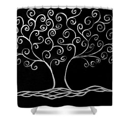 Family Tree Shower Curtain by Jamie Lynn