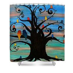 Family Tree Shower Curtain