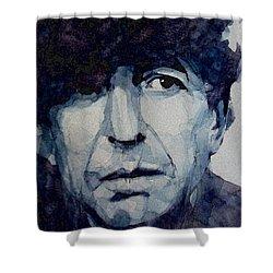 Famous Blue Raincoat Shower Curtain