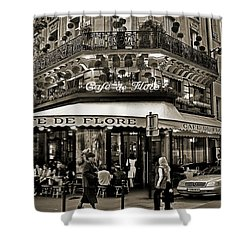 Famous Cafe De Flore - Paris Shower Curtain