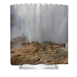 Fan And Mortar Erupt Shower Curtain