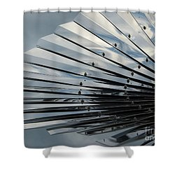 Fan In The Sky Shower Curtain by Jane Ford