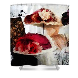 Fancy Hats Shower Curtain by Susan Savad