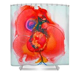 Shower Curtain featuring the painting Fandango II by Joan Hartenstein