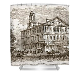 Faneuil Hall, Boston, Which Webster Shower Curtain by American School