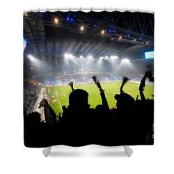 Fans Celebrating Goal Shower Curtain by Michal Bednarek