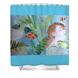 Shower Curtain featuring the painting Fantasia 1 by Sandy McIntire