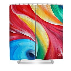 Fantasia 2 Shower Curtain by Teresa Wegrzyn