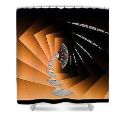 Fantasim Orange Shower Curtain by Paula Ayers