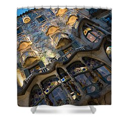 Fantastical Casa Batllo - Antoni Gaudi Barcelona Shower Curtain