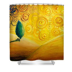 Fantasy Art - Lonely Tree Shower Curtain by Nirdesha Munasinghe
