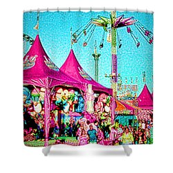 Shower Curtain featuring the digital art Fantasy Fair by Jennie Breeze