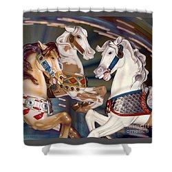 fantasy horses at a fair - Trifecta Shower Curtain
