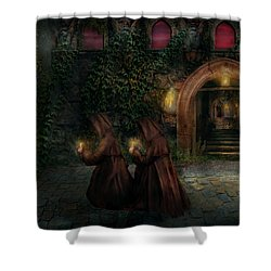 Fantasy - Into The Night Shower Curtain by Mike Savad