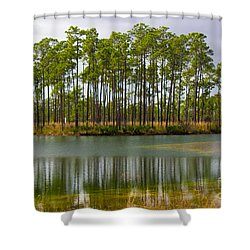 Fantasy Island In The Florida Everglades Shower Curtain