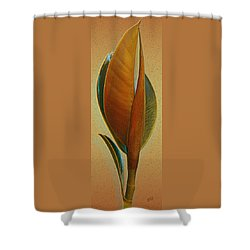 Fantasy Leaf Shower Curtain by Ben and Raisa Gertsberg