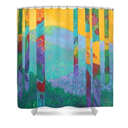 Fantasy Ridge Shower Curtain by Nancy Jolley