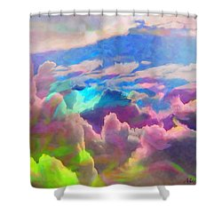 Abstract Fantasy Sky Shower Curtain