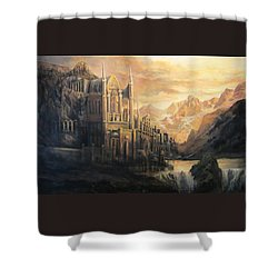 Fantasy Study Shower Curtain by Donna Tucker