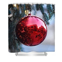 Faneuil Hall Christmas Tree Ornament Shower Curtain