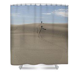 Shower Curtain featuring the photograph Far Away In The Sand by Tara Lynn