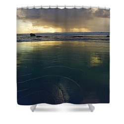 Faraway Rain Shower Curtain by Adria Trail