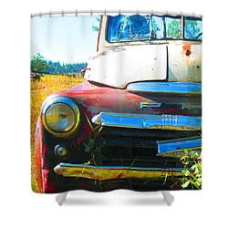 Fargo Red And White Shower Curtain