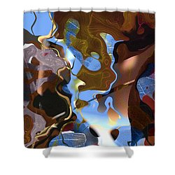 Shower Curtain featuring the digital art Fargo by Richard Thomas