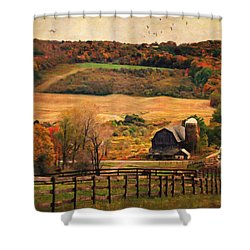Farm Country Autumn - Sheldon Ny Shower Curtain