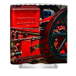 Farm Equipment - International Harvester Feed And Cob Mill Shower Curtain by Paul Ward