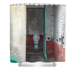 Farm Facilities Shower Curtain by HEVi FineArt