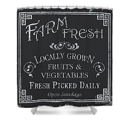 Farm Fresh Sign Shower Curtain by Debbie DeWitt