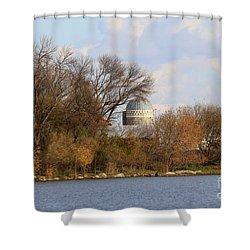 Farm Landscape Shower Curtain by Lori Tordsen