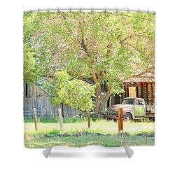 Farm Living Shower Curtain by Marilyn Diaz