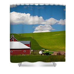 Farm Machinery Shower Curtain by Inge Johnsson