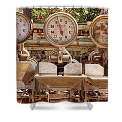 Farm Scales Shower Curtain by Kerri Mortenson
