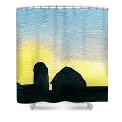 Farm Silhouette 1 Shower Curtain