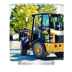 Farm Tractor 2 Shower Curtain by Lanjee Chee