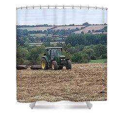 Farm Tractor Shower Curtain by John Williams