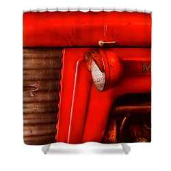 Farm - Tractor - The Tractor Shower Curtain by Mike Savad