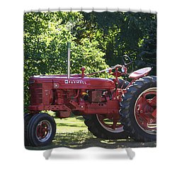 Farmall's End Of Day Shower Curtain