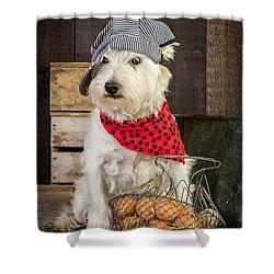 Farmer Dog Shower Curtain by Edward Fielding
