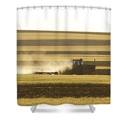 Farmer Working Shower Curtain by James BO  Insogna