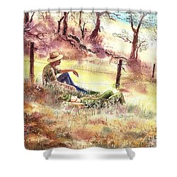 Farmers And Hunters Heaven Shower Curtain
