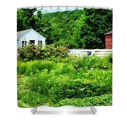 Farmer's Garden Shower Curtain by Susan Savad