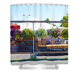 Farmers Market 2 Shower Curtain by Lanjee Chee