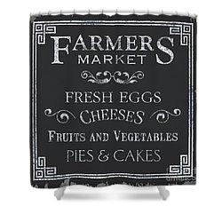 Farmers Market Shower Curtain by Debbie DeWitt